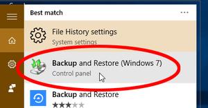 Restore a Windows 7 backup in Windows 10 - photo 02