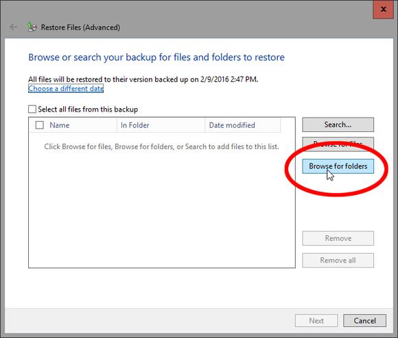 Restore a Windows 7 backup in Windows 10 - photo 04